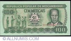 Image #1 of 100 Meticais 1989 (16. VI.)
