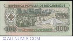 Image #2 of 100 Meticais 1989 (16. VI.)