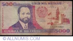 Image #1 of 5,000 Meticais 1991 (16. VI.)