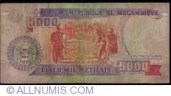 Image #2 of 5,000 Meticais 1991 (16. VI.)