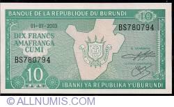 Image #1 of 10 Francs 2003 (1. VII.)
