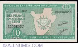 Image #1 of 10 Francs 2007 (1. XI.)