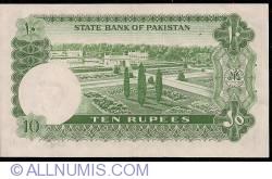 Image #2 of 10 Rupees ND (1972-1975) sign Ghulam Ishaq Khan