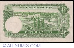 Imaginea #2 a 10 Rupees ND (1972-1975) sign Ghulam Ishaq Khan