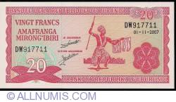 Image #1 of 20 Francs 2007 (1. XI.)