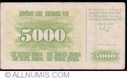 Imaginea #1 a 5000 Dinara 1993