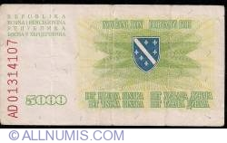 Imaginea #2 a 5000 Dinara 1993
