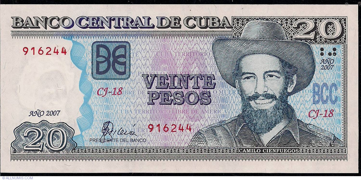 How Can You Buy Bitcoins >> 20 Pesos 2007, 2001-2002 Issue - Cuba - Banknote - 1900