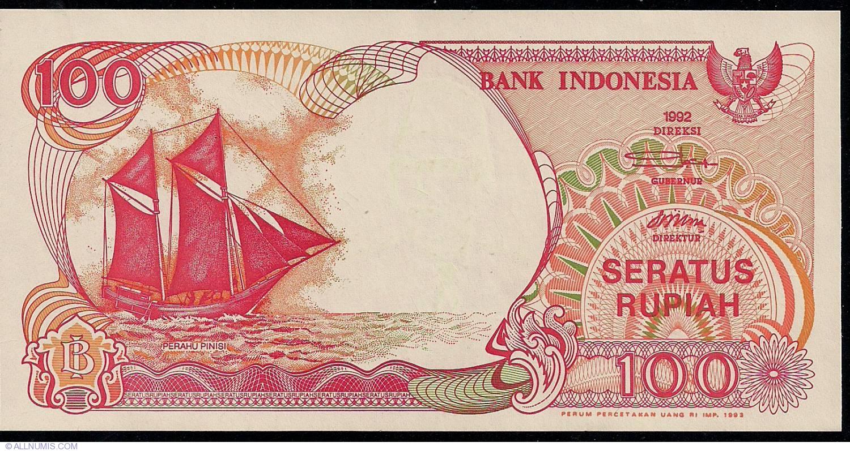 UNC 1992 Lot 10 PCS P-127 Indonesia 100 Rupiah