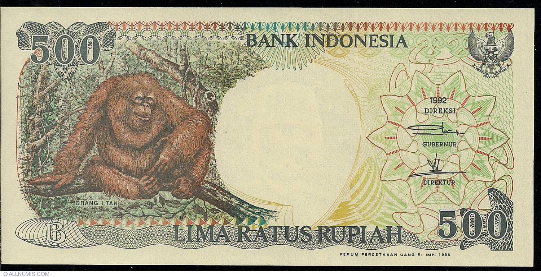 INDONESIA 500 RUPIAH 1992 P 128 UNC 10 PCS