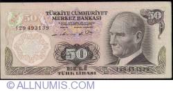Image #1 of 50 Lira ND (1976) - signatures Numan AKSOY / Yahya ARSLANER