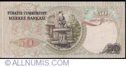 Image #2 of 50 Lira ND (1976) - signatures Numan AKSOY / Yahya ARSLANER