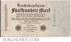 500 Mark 1922 (7. VII.)
