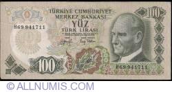 Image #1 of 100 Lira L.1970 (15. V. 1972) ()1979 - signatures İ. Hakki AYDINOĞLU / Tanju POLATKAN