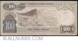 Image #2 of 100 Lira L.1970 (15. V. 1972) ()1979 - signatures İ. Hakki AYDINOĞLU / Tanju POLATKAN