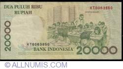 Imaginea #2 a 20 000 Rupiah 1998/1998