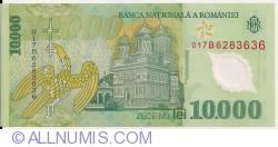 Image #2 of 10,000 Lei 2000/2001 - Governor signature Mugur Isărescu