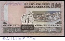 Imaginea #2 a 500 Francs=100 Ariary ND (1988-1993)