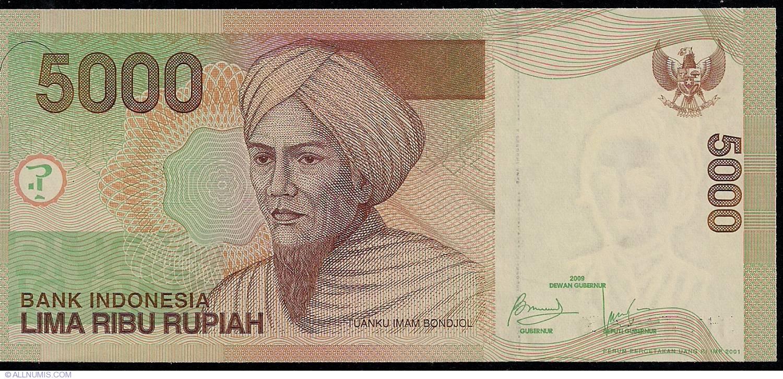 INDONESIA 5000 5,000 RUPIAH 2009 P 142 UNC
