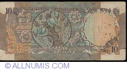 Imaginea #2 a 10 Rupees ND (1986) letter B sign R.N.Malhotra