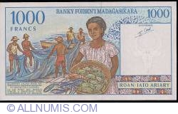 Imaginea #2 a 1000 Francs = 200 Ariary ND (1994) - semnături Gaston Ravelojaona