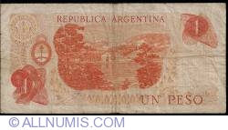Imaginea #2 a 1 Peso ND (1970-1973) - semnături Rodolfo A. Mancini / Jorge Bermúdez Emparanza