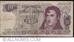 Imaginea #1 a 10 Pesos ND (1970-1973) - semnături Rodolfo A. Mancini/ Jorge Bermúdez Emparanza