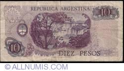 Imaginea #2 a 10 Pesos ND (1970-1973) - semnături Rodolfo A. Mancini/ Jorge Bermúdez Emparanza