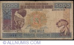 Image #1 of 5000 Francs 1985