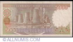 Image #2 of 5000 Lira L.1970 (1990) - signature Dr. Rüşdü SARACOGLU / Ruhi HASESKİ