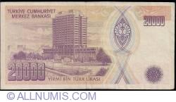 20,000 Lira ND (1995) - signatures Ş. Yaman TÖRÜNER / Nedim USTA