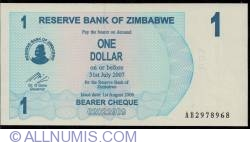 Imaginea #1 a 1 Dollar 2006 (1. VIII.)