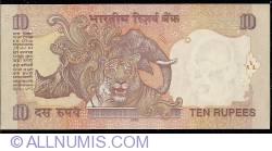 Image #2 of 10 Rupees 2008 - N
