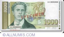 Imaginea #1 a 1000 Leva 1994 specimen