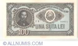 100 Lei 1952 - Blue Serial