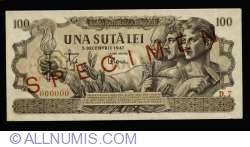 100 Lei 1947 (5. XII.) - SPECIMEN