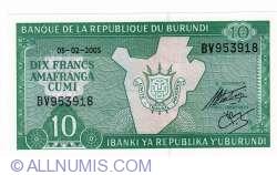 Image #2 of 10 Francs 2005 (5. II.)