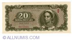 20 Lei 1950 (15. VI.)