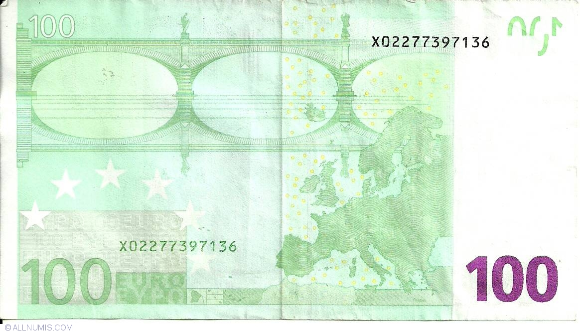100 euro x germany 2002 issue 100 euro signature for Wohnlandschaft 100 euro