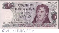 Image #1 of 10 Pesos ND (1973-1976) - signatures Emilio Mondelli/ Ricardo A. Cairoli