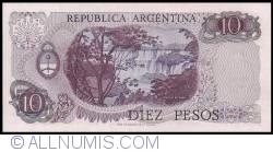 Image #2 of 10 Pesos ND (1973-1976) - signatures Emilio Mondelli/ Ricardo A. Cairoli