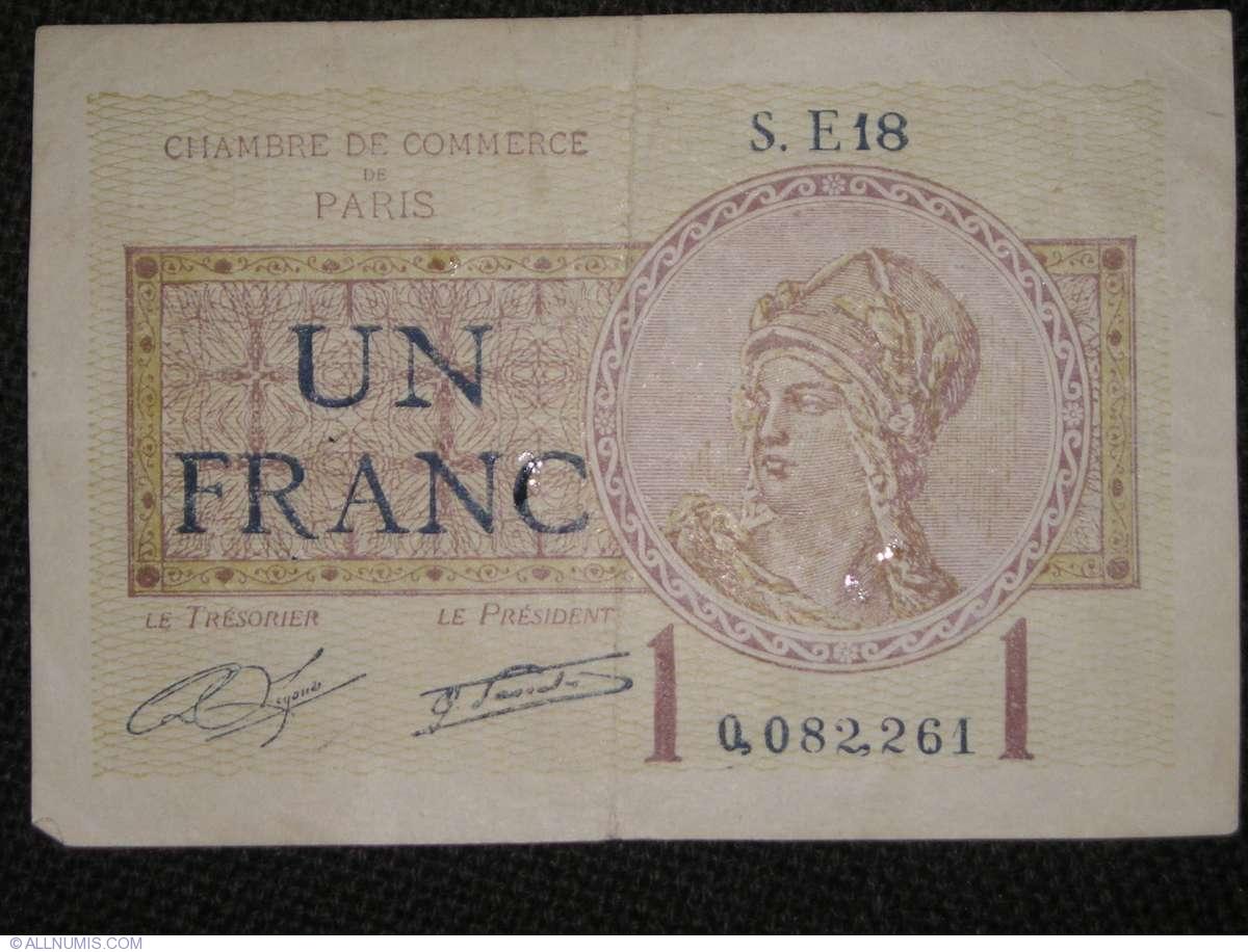 1 franc 1922 1921 1930 issues france banknote 513 - Chambre de commerce franco americaine paris ...