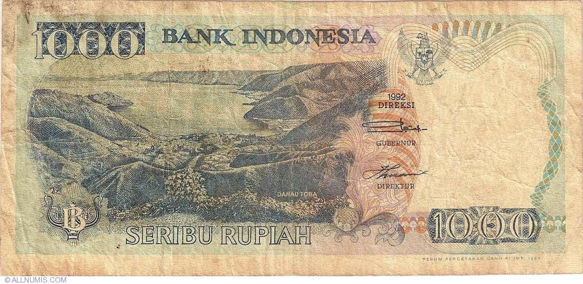 P-129 UNC Indonesia 1000 Rupiah 1992