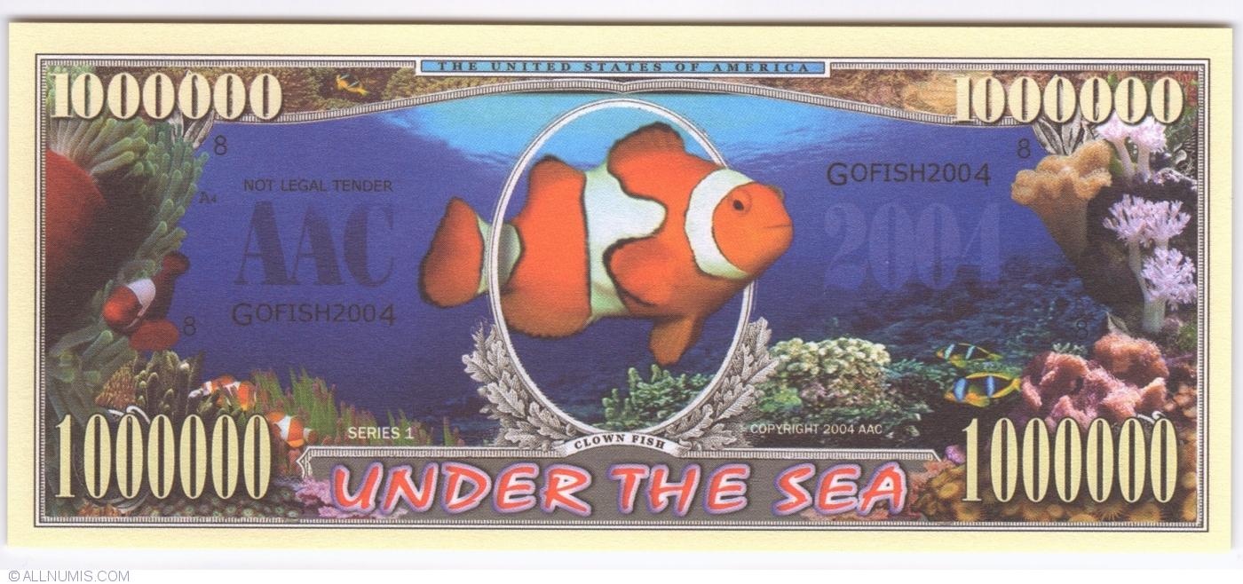 1 000 000 2004 clown fish usa american art classics for American classics inc