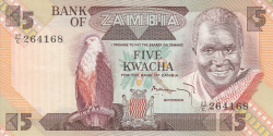 Imaginea #1 a 5 Kwacha ND (1980-1988)