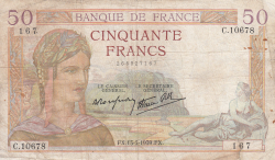 Image #1 of 50 Francs 1939 (13. VII.)