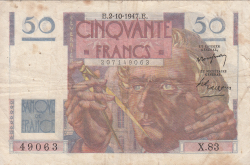 Image #1 of 50 Francs 1947 (2. X.)