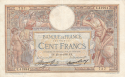 Image #1 of 100 Francs 1933 (23. XI.)