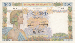 Image #1 of 500 Francs 1942 (5. XI.)