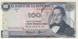 Imaginea #1 a 100 Pesos Oro 1971 (20. VII.)